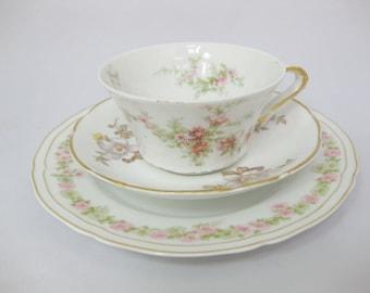 Tea Cup Trio, Mismatched Bone ChinaTrio, Tea Cup Set, Mismatched China, Wedding Decor