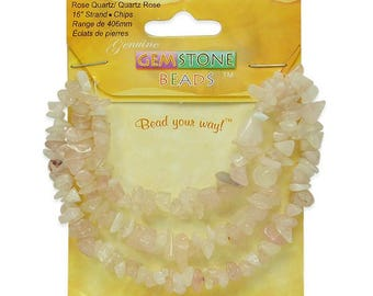 Expo Rose Quartz Chips 16 Inch Strand
