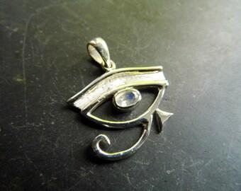 Eye, silver, Horusauge, Moonstone, faceted, trailer, Egypt