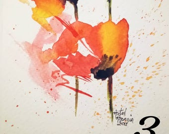 "Postcard ""poppies"""
