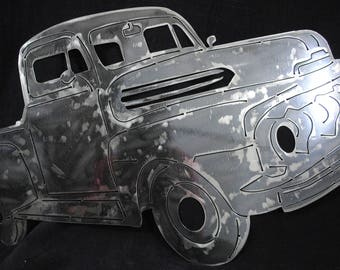 1948 Ford Pick-Up, Metal Truck Art, Ford Truck, Wall Art Decor, Office Decor, Home Wall Decor, Man Cave Art, Gift for Dad, Automotive Art