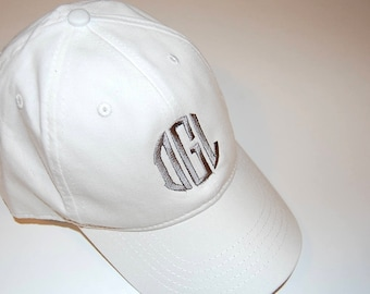Monogrammed Cap, Personalized Ball Cap, Embroidered Hat, Beach Cap, Lake Hat, Cotton Hat, Adjustable Cap, Head Cover, Golf hat, Baseball Cap
