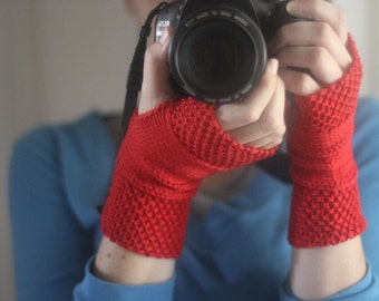 WORKSHELTER Hand Warmers Knitting Pattern