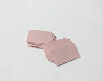 "2"" x 3.1"" Pink, 210gsm Handmade Deckle Edge Cotton Rag Paper // Deckle Edge Paper, Cotton Paper, Invitation Paper, Calligraphy Paper"