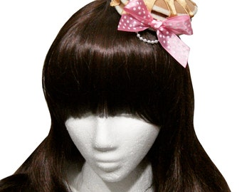 Sweet Honey or Maple Syrup Pancakes and Whipped Cream Barrette - More Bow Colors Available!