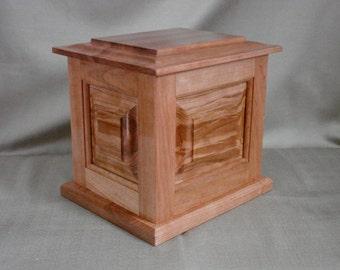 Adult Cremation Urn, Wood Urn, Custom, Keepsake Vault, Cremation Urn