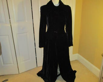 velvet maxi evening coat