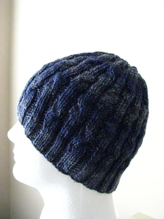 Mens Knit Hat Sock Yarn Hat Knitting Pattern