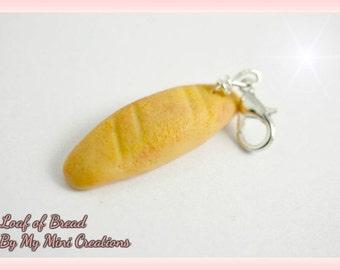 Loaf of Bread Charm , Miniature Food, Food Jewelry, Miniature Food Jewelry