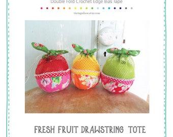 PDF Fresh Fruit Bag Pattern.  Sewing Pattern.  Drawstring Sewing Pattern.  Gift Sewing Pattern.  Fruit Bag Pattern.