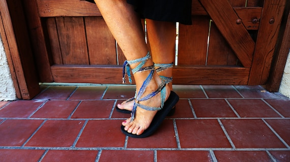 eco recyclable soles Caribbean All boho gladiator blue laces our are interchangeable sandals chic friendly with our ZB6wqZ