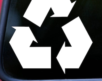"""RECYCLE SYMBOL 5"""" x 5"""" Vinyl Decal Sticker - Reduce Reuse Recycling *Free Shipping*"""