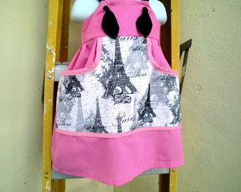 Pink and Black Knot Dress -  Paris, Uh LA LA