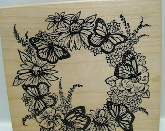 Northwoods wood mounted rubber stamp