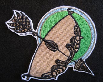 Saggitarius Embroidered Iron On Patch, Saggitarius Patch, Iron On Patch, Horoscope, Zodiac Sign,  Zodiac Patch, Saggitarius