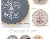 Embroidery kit tutorial, Fleur De Lis, embroidery pattern, I Heart Stitch Art, learn to embroider, easy embroidery, DIY hoop art, fleurdelis