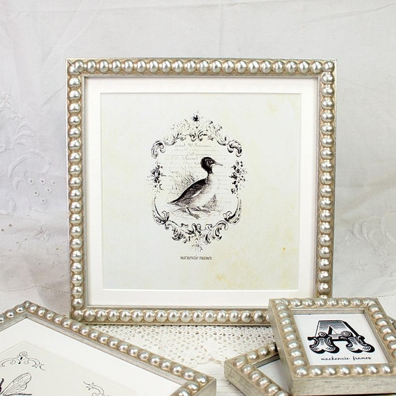 8x8 inch Square Format Silver Boules Photo Frame Ideal for