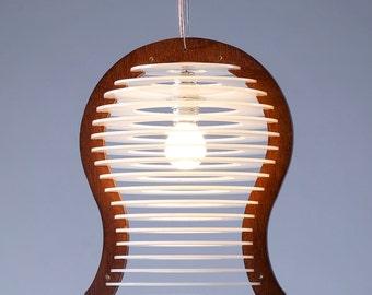 Free Shipping, Pendant Lighting , Pendant Lamp , Modern Chandelier , Light Fixture , Wood and Perspex Pendant Light , Home Decor