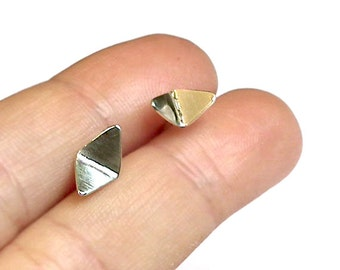 Sterling Silver Stud Triangle Earrings