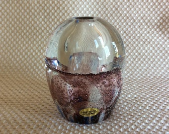 Poland art glass crystal paperweight table pen holder office decor