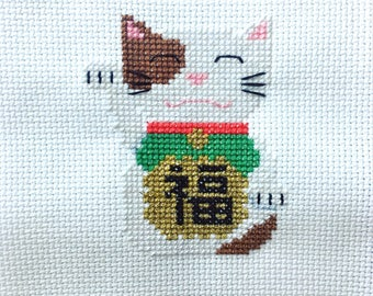 Cross-Stitch eChart: Lucky Cat