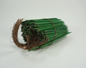 Wired Floral Sticks, 100+ Green Wood Sticks for Floral Making, Floral Supplies, Stem Supports, Wood and Metal Arrangement Sticks, Free Ship