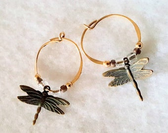 14kt. Gold Dragonfly Earrings