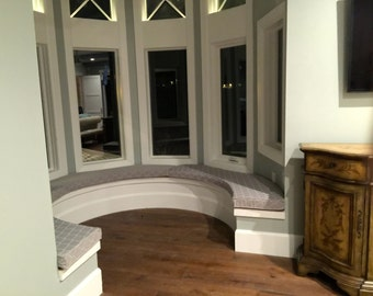 Window or Bench Seat Cushions Turret Bay Window Custom Made EXAMPLE
