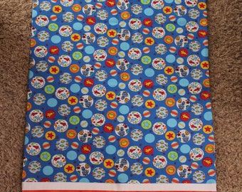 Outer Space Standard Pillowcase-rockets, planets, stars, robots