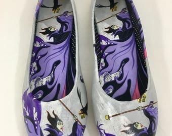 Custom made maleficent ballet flats