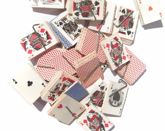 Miniature Playing Cards 1990s Gumball Prize or Arcade Prize, One Suite, Play or Crafts, Vegas Scrap-booking