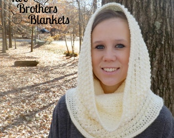 Instant Download- Crochet Pattern- Little Textures Hooded Cowl