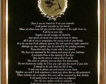 Police K-9 Plaque - Guardians of the Night Poem - Custom - Can be Personalized