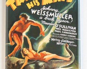 Tarzan and His Mate Movie Poster Fridge Magnet