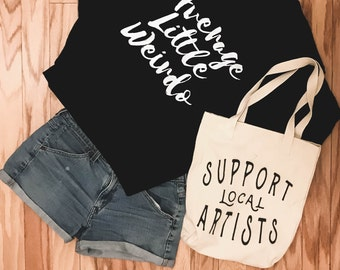 Support Local Artists Cotton Tote Bag