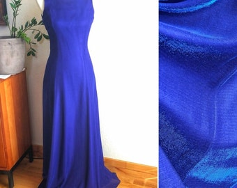 Irridescent blue gown