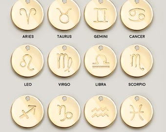 Cancer Zodiac Necklace Gift Women Zodiac Jewelry Aquarius Constellation Taurus Leo Sagittarius Pisces - CN-ZS