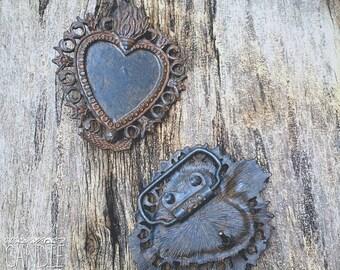 Flaming Heart Belt Bucklet- DIY Jewelry