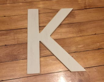 Wooden Wall Letter K - Painted Letter - Sassoon Font - Various sizes, finishes and colours, 9mm thick