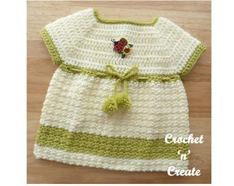Woodland Newborn Dress Baby Crochet Pattern (DOWNLOAD) CNC32