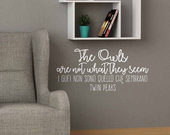 Tween Peacks - Wall stickers, Tween Peacks quotes, Tween Peacks stickers, Tween Peacks phrases, wall art, wall decor, Tween Peacks decor