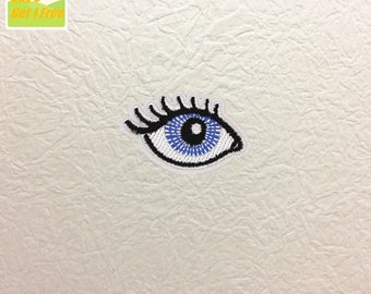 Eye Iron on Patch, Eye Embroidered Patch- Size 2.13'' W x 1.33'' H