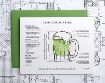 Project St Patrick's Day Beer - Instant Download Printable Art - Construction Series