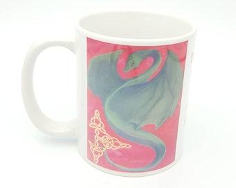 Dragon gift mug, Inspirational mug, inspirational quote, creative life, coffee lover gift, get carried away, fantasy fiction, unique gift