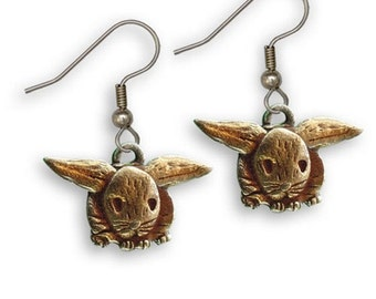 Enamel Hand Painted Rabbit Earrings