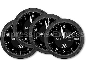 Altimeter Aviation Coasters - Set of 4