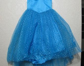 little girls sz. 2t - 3- 4- 5 CINDERELLA DRESS with BUTTERFLIES cinderella ball gown princess dress