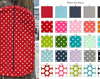 Custom Polka Dot Hanging Garment/Clothes/Show Coat Bag Many Colors - MADE TO ORDER