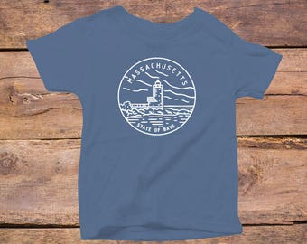 Massachusetts State Design - Eco Tri-Blend Infant T-Shirt