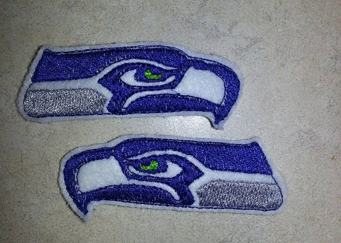 Seattle Seahawks Logo Embroidered Feltie Hair Clips